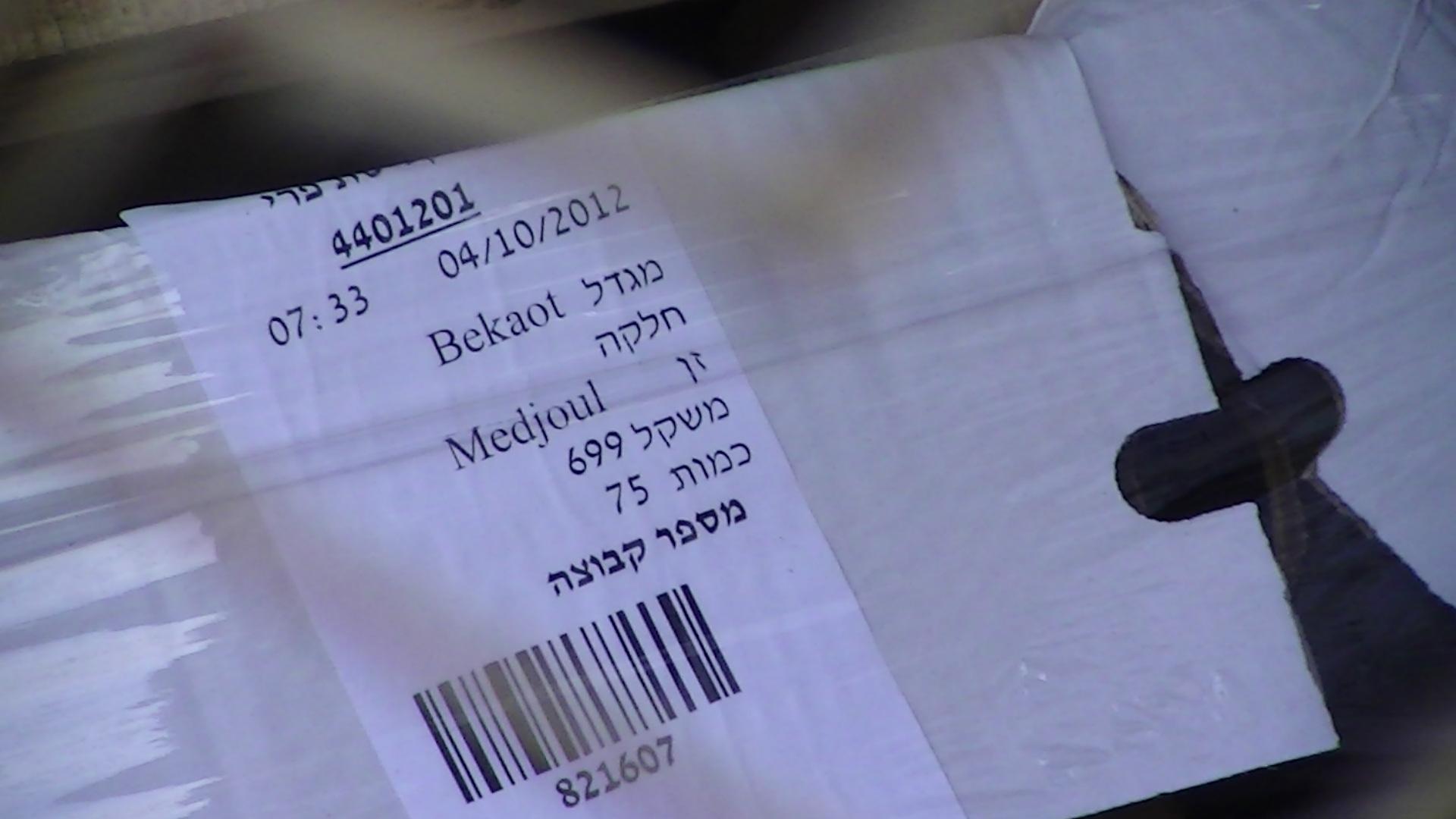 Evidence of Medjoul dates in Beqa'ot settlement in the Jordan Valley