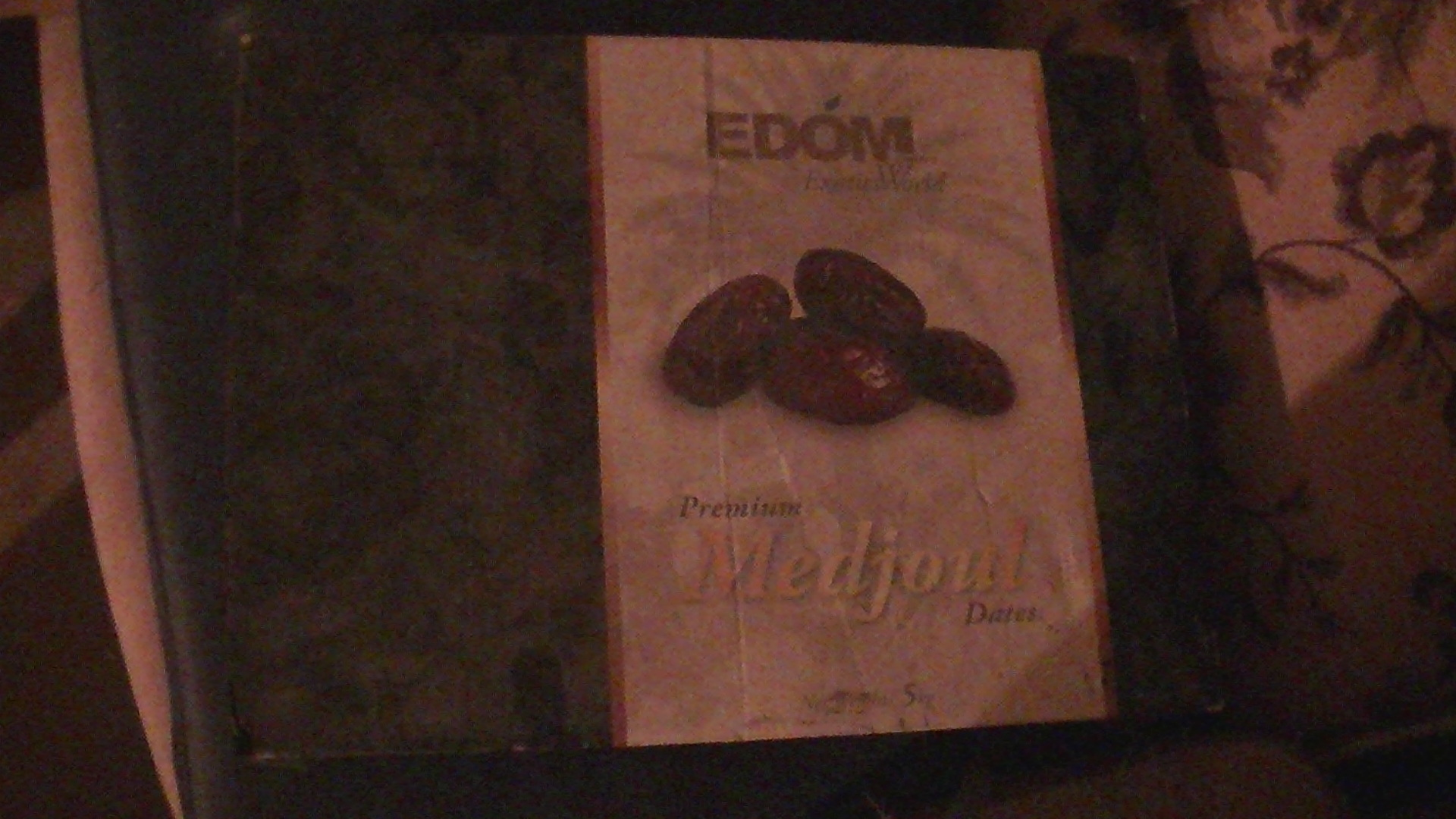 Edom packaging found in the illegal settlement of Tomer