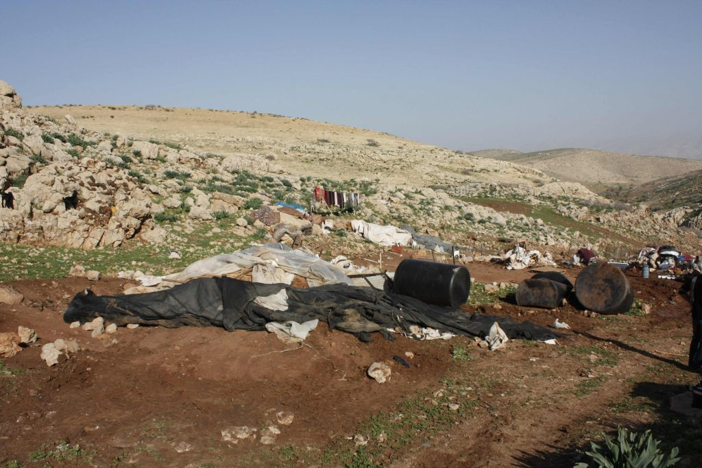 After the demolitions in Al Malih - 16/1/13