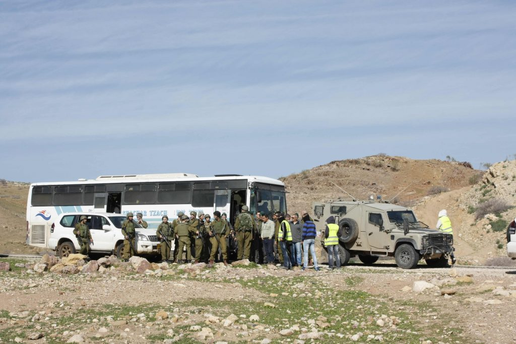 IOF being transported in a bus supplied by Tzachar Tzach and made by Volvo