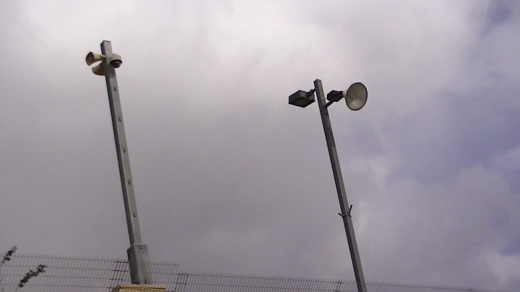 Surveillance equipment at police station in the E1 area close to Ma'ale Adumim.