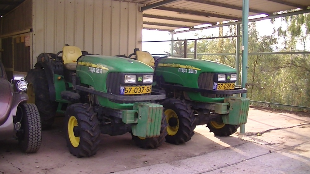 John Deere equipment in use at a settlement farm in nearby Beqa'ot, photo taken by Corporate Watch in February 2013