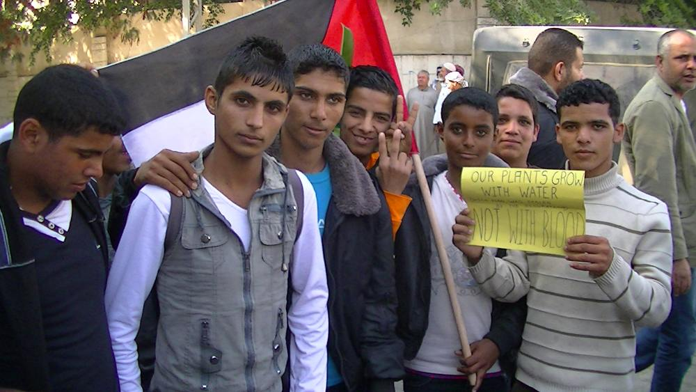 Palestinians demonstrate outside UNSCO - 20/11/13