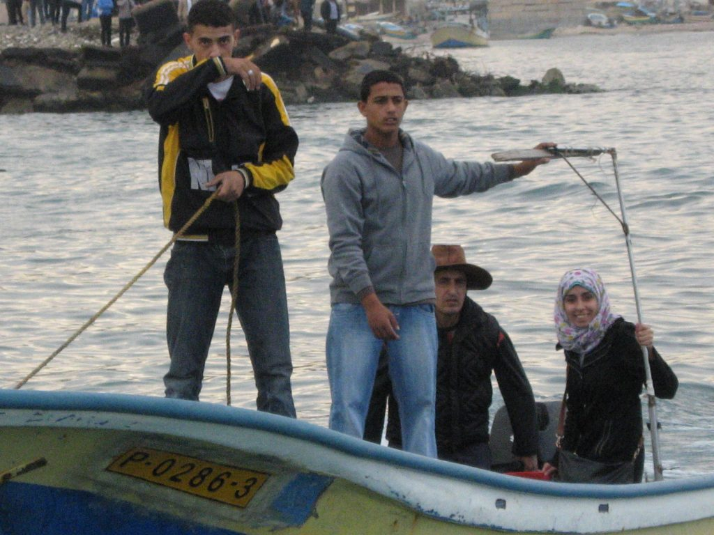 Palestinian fisherfolk and their supporters - Sumud flotilla - 2/12/13