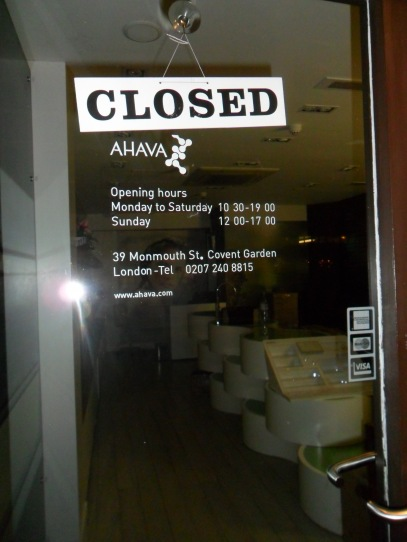 ahava closed