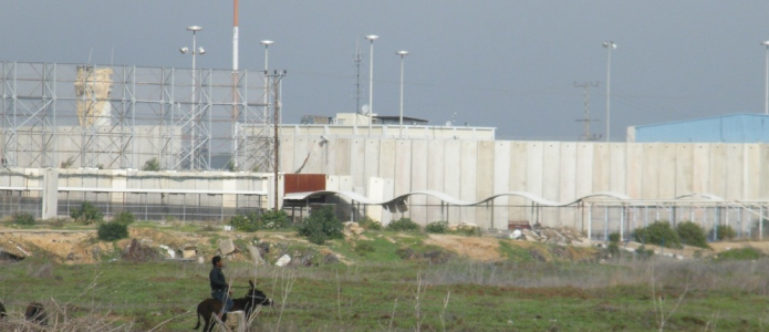 The Beit Hanoun (Erez) checkpoint taken from the Palestinian side, photo taken in 2013 by the Beit Hanoun Local Initiative,