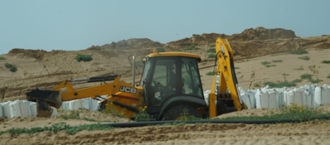 Equipment manufactured by European, US and Asian companies being used to fortify Gaza apartheid wall