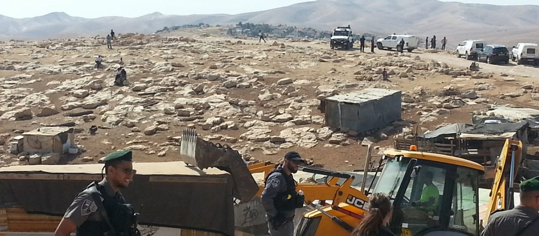 A day of demolitions: Houses destroyed by JCB vehicles at Abu Nuwar