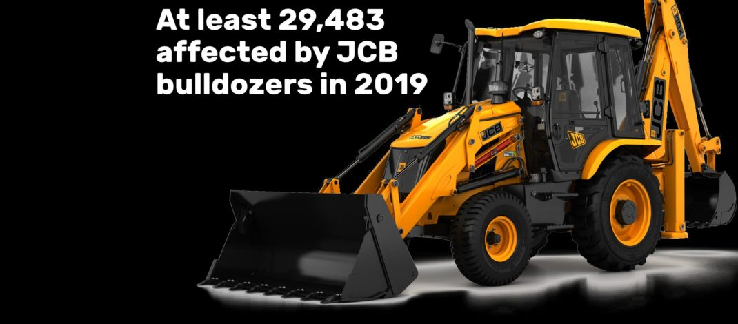 JCB's complicity in Israeli war crimes: 2019 statistics